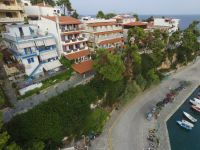 Aerial view Hotel Levantes <br />and harbour Patitiri